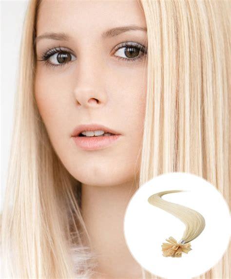 pre bonded hair pre bonded hair extensions bleach blonde nail tip from hair100