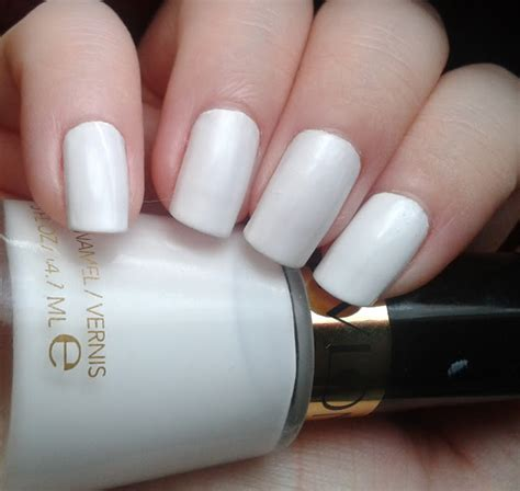 Revlon White geordie nails revlon white on white