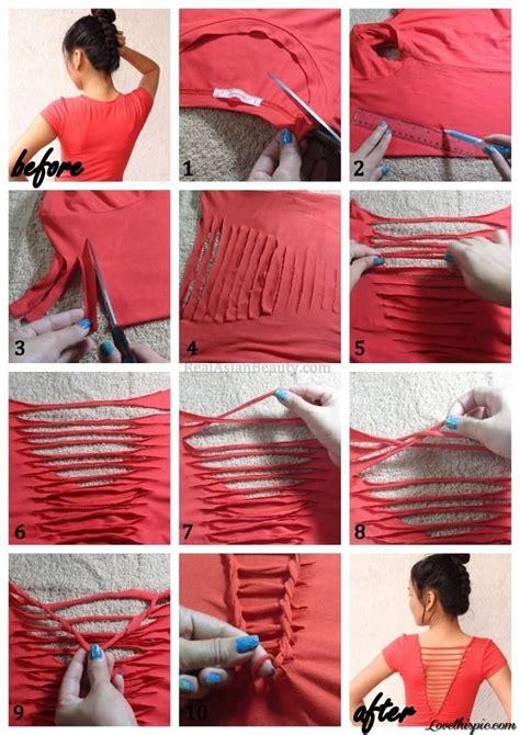 How To Make Tshirt t shirt restyling idea diy no sew alldaychic
