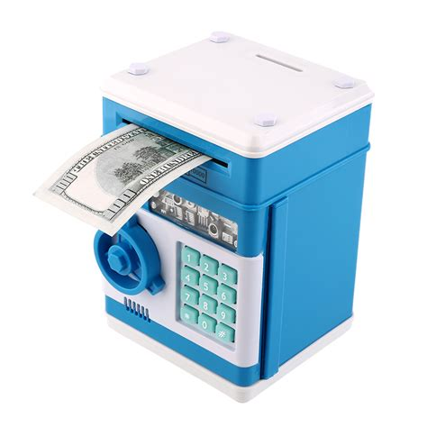 Safety Box Bank electronic money safe box password saving bank atm for coins and bills xp ebay