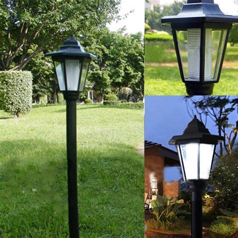 solar powered outdoor l post lights auto outdoor garden led solar power path cited lights