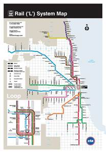 Chicago Metro Map by L Chicago Metro Map United States