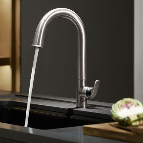kohler    sensate touchless kitchen faucet vibrant stainless touchless kitchen sink