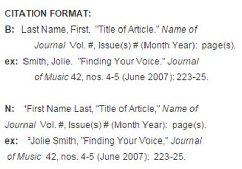 footnote format journal article journal articles music citations turabian chicago style