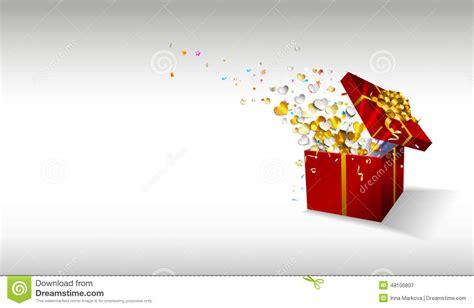 open gift  fireworks  confetti  hearts  white