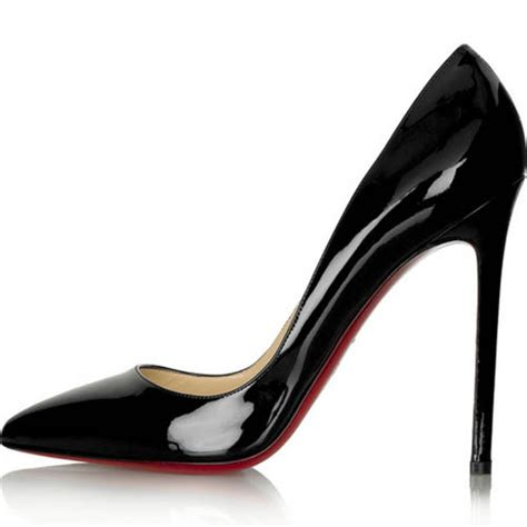 pumps high heels shoes patent pointed toe high heel black shoes custom made