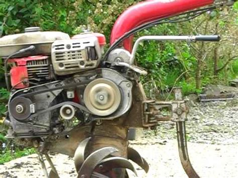 honda f400 motoculteur tiller babord youtube
