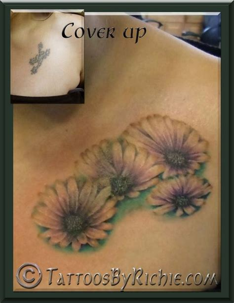 tattoo nightmares flower cover up african daisy tattoo cover up tattoo nightmares cover up