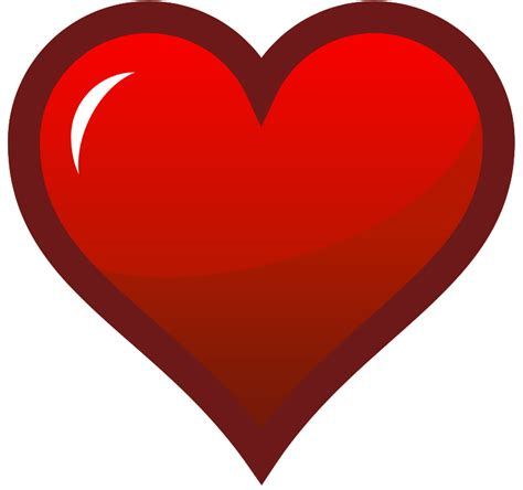 Free Clipart: Red Heart Icon   pianoBrad