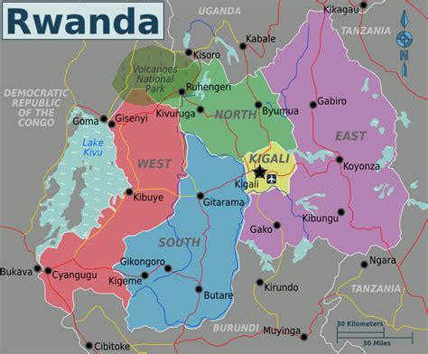 rwanda map around muji town ritters in rwanda