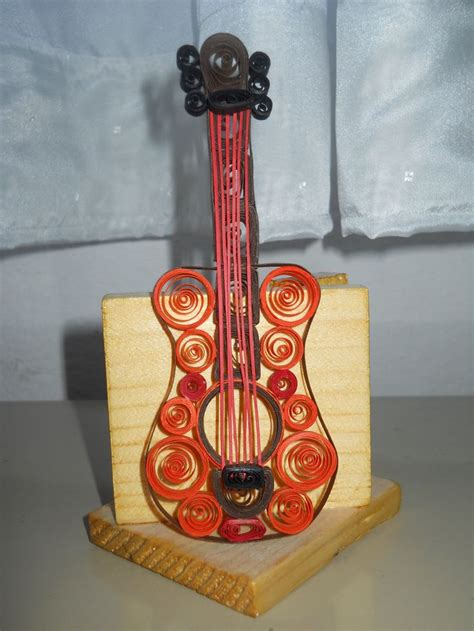 Make A Paper Guitar - quilling guitar my crafts quilling