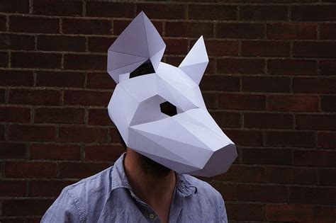 A Paper Mask - geometric 3d paper masks by steve wintercroft 6