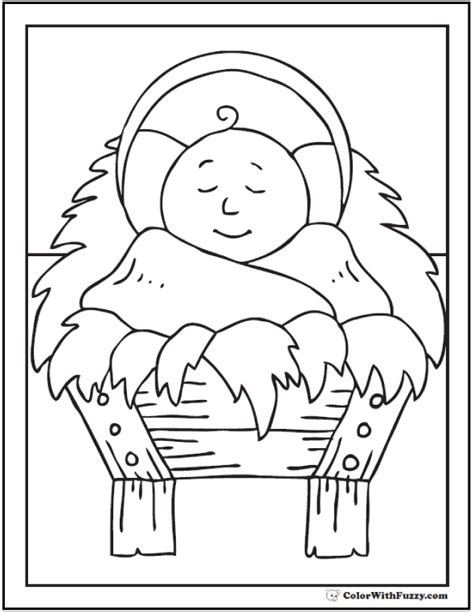 preschool coloring pages of baby jesus christmas coloring picture baby jesus in crib