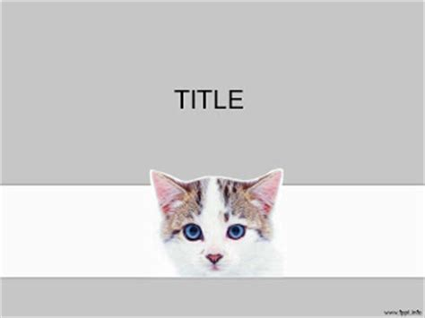 Cat Powerpoint Template 15 แจก Powerpoint Template สวยๆ Cat Powerpoint Template