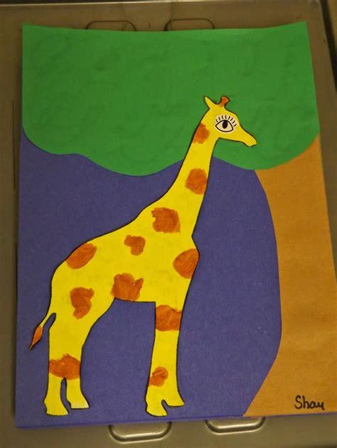 giraffe crafts for the stuff we do paper giraffe craft zoo jungle and