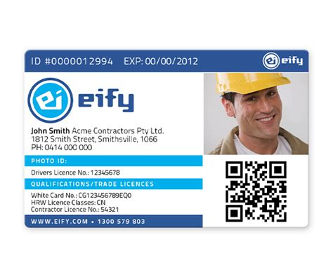 Contractor Id Card Template by Eify Construction