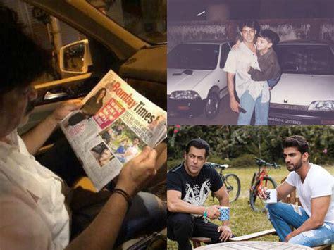 new actor zaheer iqbal salman khan posts his new find zaheer iqbal s father s