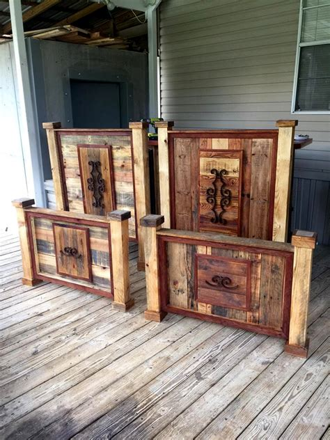 Pallet Furniture Headboard by Rustic Pallet Headboard And Footboard Sets Pallet