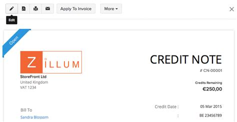 Sle Credit Note Uk credit note help document