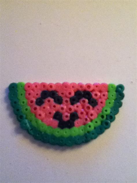 Perler Bead Smiling Watermelon By Yinlizzy On Deviantart