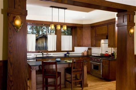 Arts And Crafts Kitchen Lighting Wooden Kitchen With Arts And Crafts Lighting Home Interiors
