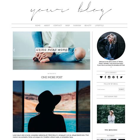 Best Blogger Templates For Writers | blogger template writers dream blogger templates