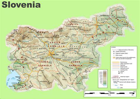 in slovenia ljubljana slovenia map