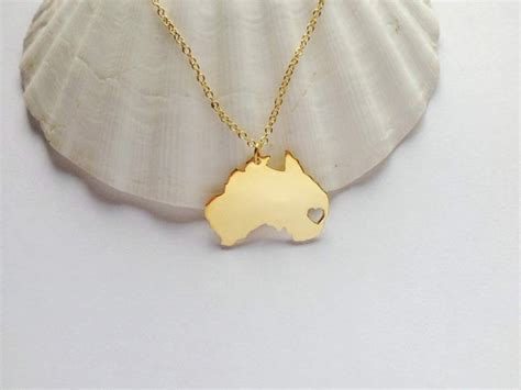 australia necklace goldaustralia shaped jewelry with