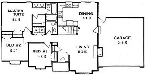 shallow house plans plan 1182 ranch style small house plan for wide shallow lot