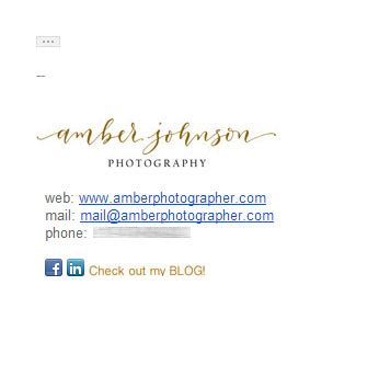 the photographer's guide to email signatures | foregroundweb
