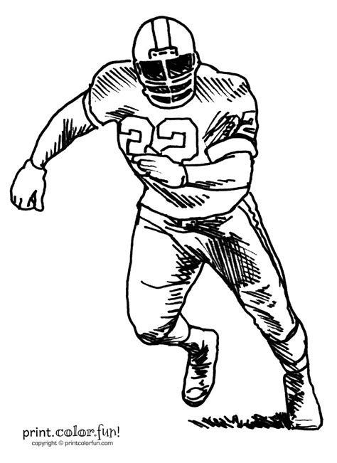 Football Player Coloring Pages - GetColoringPages.com