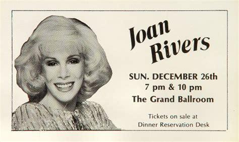 Joan Rivers Swag by Joan Rivers Handbill From Hyatt Regency Grand Ballroom