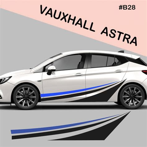 Sticker Tuning Car by Vauxhall Astra Side Racing Stripes Decal Graphics Tuning
