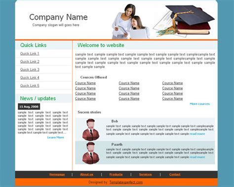 free html education templates free education web template templates