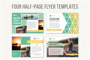 half page ad template four half page flyer templates templates creative market
