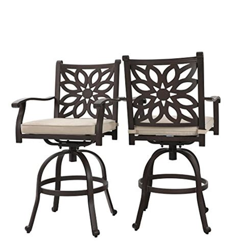 Wide Swivel Bar Stool by Phi Villa Wide Outdoor Patio Pub Height Swivel Bar