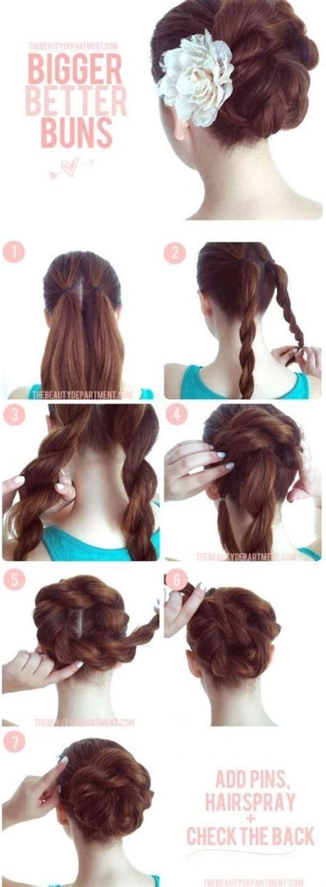 how to do simple bun hairstyles 15 braided bun updos ideas popular haircuts