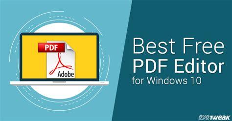 best free pdf editor best free pdf editor for windows 10