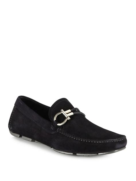 driving loafers for ferragamo suede driving loafers in brown for