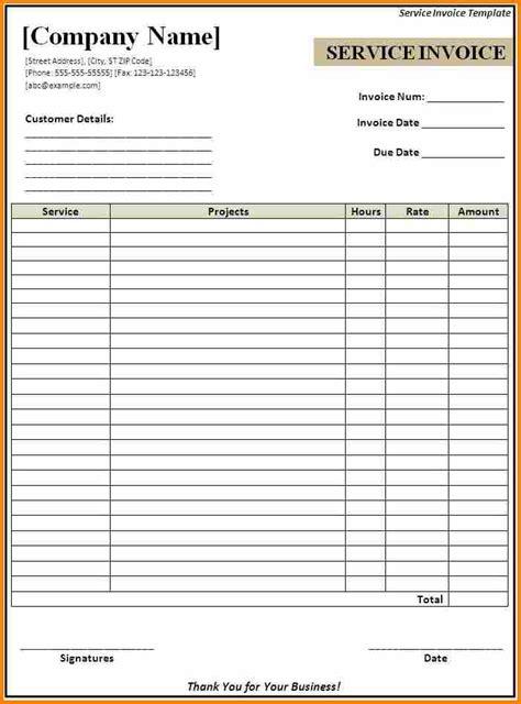 8 billing invoice sles blank simple bill