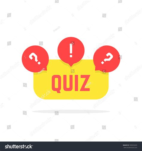 design quiz red yellow quiz button concept creative stock vector