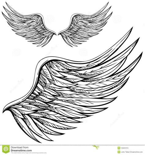 black and white angel wings tattoo designs aile d ange de dessin anim 233 12591374 jpg 1300 215 1390