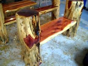 Rustic log benches making frontier furniture in backyard youtube