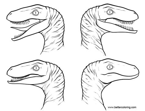 jurassic world coloring pages raptor squad