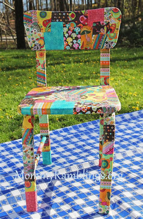 Decoupage Using Fabric - decoupage furniture with fabric and modpodge ramblings