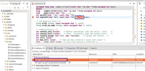 type layout cannot be resolved or is not a field 已解决 ubuntu下eclipse中交叉编译一个c项目出错 type va list could not