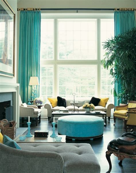 Turquoise Curtains For Living Room by Turquoise Ideas For Every Room Ideas For Interior