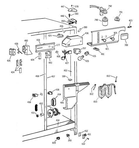 ge refrigerator diagram refrigerator parts ge refrigerator parts diagram defrost