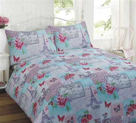 single comforter floral quilt duvet cover pillowcase bedding bed set
