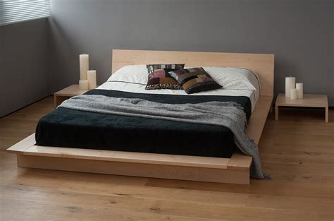 bed company natural wood platform king size bed frame with japanese